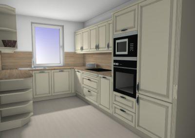 Funktionale Küche mit Rahmenfronten