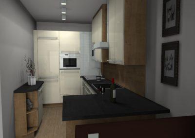Gemütliche Küche mit bester Raumnutzung