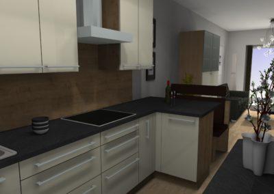 Gemütliche Küche mit bester Raumnutzung_