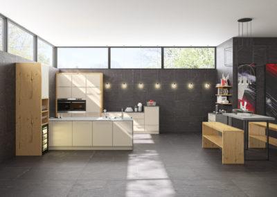 Trendige Küche mit schmalen Rahmen